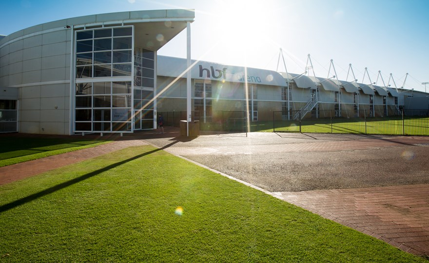 Front of HBF Arena Joondalup in the morning.jpg