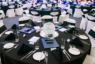 School Ball table setting at Arena Joondalup