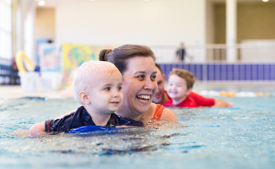 Parent and baby swimming lessons 1