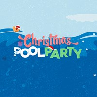 Christmas pool party cartoon HBF Arena