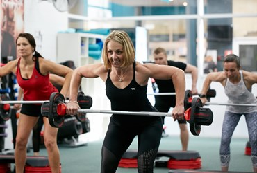 Body pump class lifting weights HBF Arena